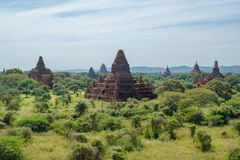 Bagan, Myanmar (Burma. View of some the many buddhist temples present in this beautiful city royalty free stock photos