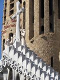Details of Sagrada Familia, the cathedral of Barcelona, the Masterpiece designed by Antony Gaudi royalty free stock photography
