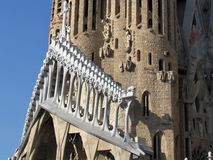 Details of Sagrada Familia, the cathedral of Barcelona, the Masterpiece designed by Antony Gaudi royalty free stock images