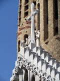 Details of Sagrada Familia, the cathedral of Barcelona, the Masterpiece designed by Antony Gaudi stock photos