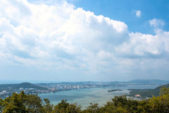 View of Songkhla city. On the top of Dang mountain Stock Photography
