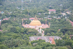View from Soon U Pond Nya Shin Paya Pagoda,Sagaing hill , Sagaing City, The Old City of Religion and Culture Outside Mandalay, Stock Photography