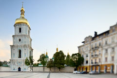 View Sophia Square. View of Sophia Square in Kyiv, Ukraine. Tilt-Shift lens Stock Photo