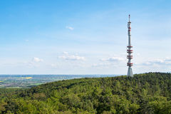 View of Sopron TV tower, Hungary. View of Sopron TV tower from Karoly Lookout tower, Hungary Stock Image
