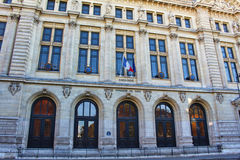 View on Sorbonne univesity. Front view, paris city, france Stock Image