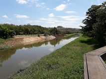 The view of Sorocaba River, an important river in the state of Sao Paulo, in Brazil stock photo