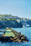 View of the Sorrento coast. Sorrento is one of the most expensive resorts. beautiful view stock photos