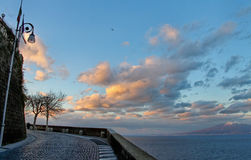 View from the Sorrento coast. Royalty Free Stock Photo
