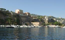 View of Sorrento, Italy. View of Sorrento - Gulf of Naples, Italy stock photos
