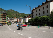 View of Sort in Catalonia. View of the centre of the town Sort in Catalonia Spain Stock Photo