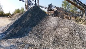 Sorting station gravel. View of Sorting station gravel Royalty Free Stock Image