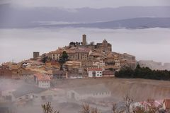 View of Sos del Rey Catolico. This town is the birthplace of Ferdinand of Aragon, the Catholic Monarch royalty free stock images