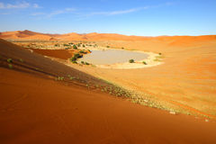 View of Sossusvlei and Deadvlei Royalty Free Stock Images