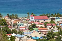 View of Soufriere, St Lucia. Panorama of Soufriere in St Lucia, Caribbean Stock Photography