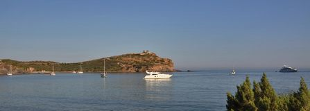 View of Sounion, sunset Stock Image