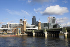 View from the south bank, across the River Thames Stock Photography