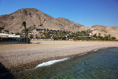 View on south beach of Eilat Stock Images
