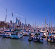 View from South Beach Harbor, San Francisco Stock Photo