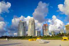 View of South Beach, Miami Stock Photo
