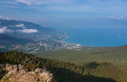 View of South Coast Crimea from Ai-Petri Royalty Free Stock Images