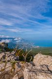 View of South Coast Crimea from Ai-Petri Stock Images