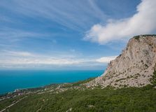 View of South Coast Crimea from Ai-Petri Royalty Free Stock Photography