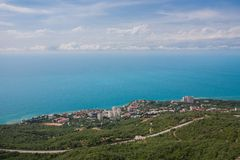 View of South Coast Crimea from Ai-Petri Stock Photography
