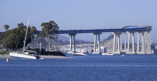 A View of the South End of the San Diego-Coronado Bridge Stock Image