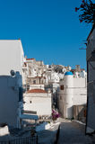 View of south Italian village. Typical white houses in the south italian village of Peschici, Apulia Royalty Free Stock Image