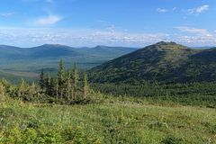 View of South Konzhakovskiy spur in Northern Ural, Russia Stock Image