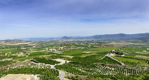 View south from Montesa Castle Royalty Free Stock Photography