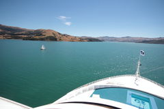 View, south New Zealand. Fjords in the southern Islands of New Zealand Stock Photos