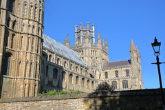 View of the South part of the Cathedral of Ely in Cambridgeshire, Norfolk, UK Royalty Free Stock Photos