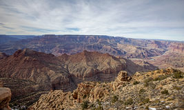 View from the south rim of the Grand Canyon - winter Royalty Free Stock Photo