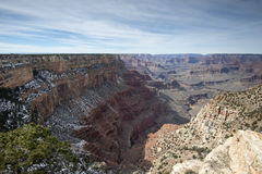 View from the south rim of the Grand Canyon - winter Stock Photos