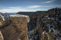 View from the south rim of the Grand Canyon - winter Royalty Free Stock Photography