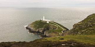 A View of South Stack Lighthouse, Wales Stock Images