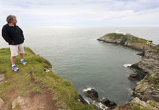 A View of South Stack Lighthouse, Wales Stock Photos