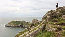 A View of South Stack Lighthouse, Wales Royalty Free Stock Images