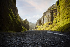 View of south valley of Iceland Royalty Free Stock Photos