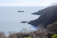 View from the South West Coastal Path, Devon. Royalty Free Stock Photo