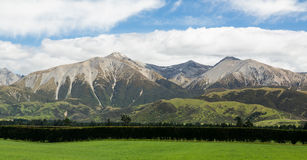 View of Southern Alps New Zealand Stock Image