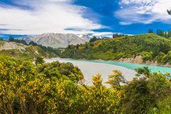 Rakaia Gorge and Southern Alps Royalty Free Stock Image