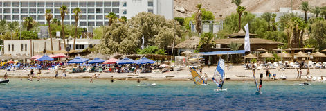 View on southern beach of Eilat, Israel Stock Image