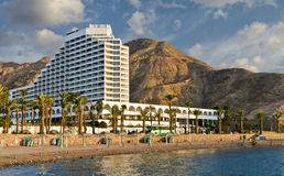 View on southern beach of Eilat, Israel Stock Photos