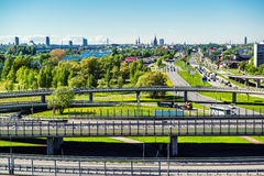 View of the Southern Bridge in Riga Stock Photo