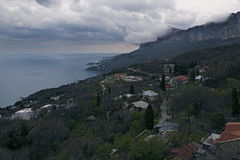 View of the southern coast of Crimea from the mountain Stock Images