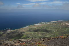 View on the southern coast of La Palma, Canary Isl Royalty Free Stock Photos