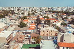 View of southern part of Nicosia, largest city and capital of Cy Royalty Free Stock Images