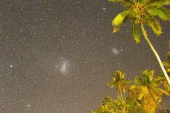Magellanic Clouds from the Fiji Islands stock photo